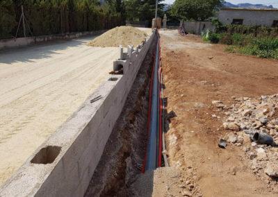 Construcció mur perimetral
