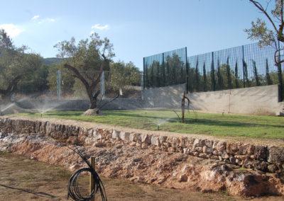 Instal·lació de reg per jardí