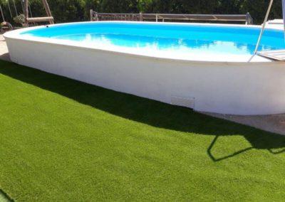 Construcció de piscina alta