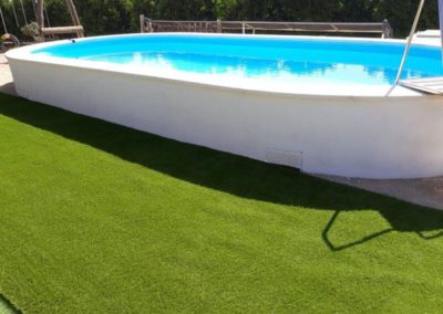Construcción piscina alta