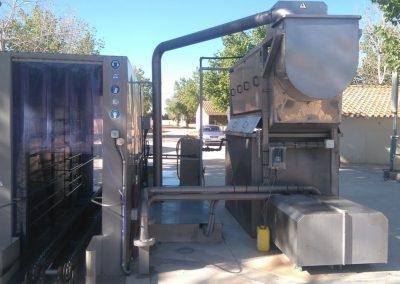 Sistema automatizado para limpieza de gábias y camiones